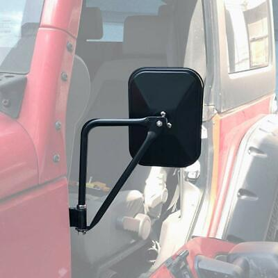 Side Mirrors Doorless Rear View Quick Release Mirrors for Jeep Wrangler TJ JK -