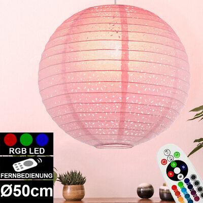RGB LED Lámpara Colgante Comedor Sombrilla de Globo Conmutable Regulable 470Lm