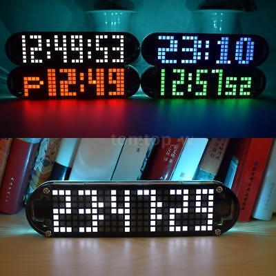 Digital LED Electronic Time Clock Voice Control Countdown Transparent DIY -