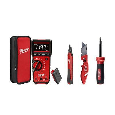Electricians Multimeter Combo Kit Voltage Detector Knife Screwdriver Holder Set