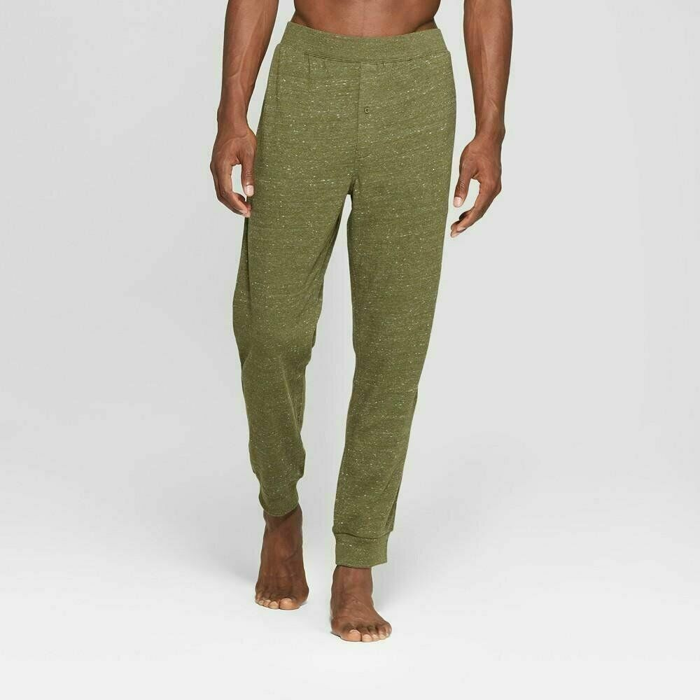 Men's French Terry Jogger Pajama Pants – Goodfellow & Co Olive (Green) XXL Clothing, Shoes & Accessories
