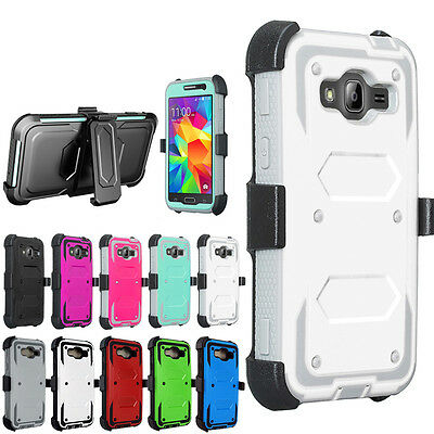 For LG ZTE Motorola HTC -Hybrid Tri Layer Phone Case Cover Screen & Clip Holster ()