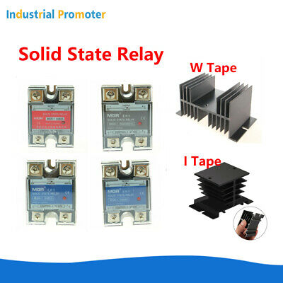 10A/25A/40A/50A/60A Solid State Relay SSR DC-AC DC-DC AC-AC With/ Heat Sink