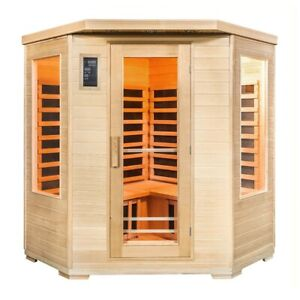 Taavi 4 Person Corner Infrared Home Sauna Campbelltown Area Preview