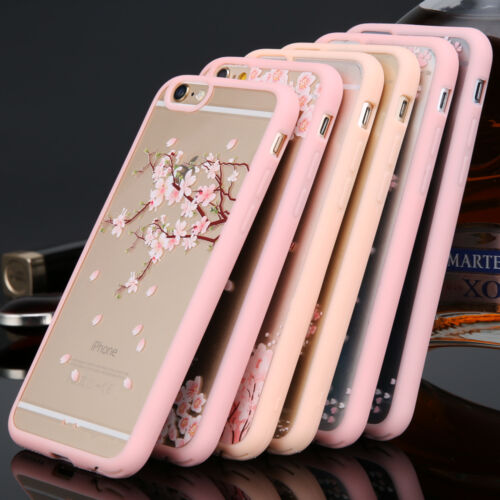 Colorful Cherry Flower Transparent Phone Case Cover for iPhone 5 6s Plus Samsung