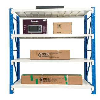 2M Steel Garage Warehouse Rack Storage Shelving Work Bench 800kg