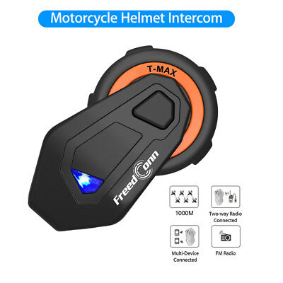 FreedConn T-MAX 1000M Bluetooth Motorcycle Helmet Intercom Microphone For Rider