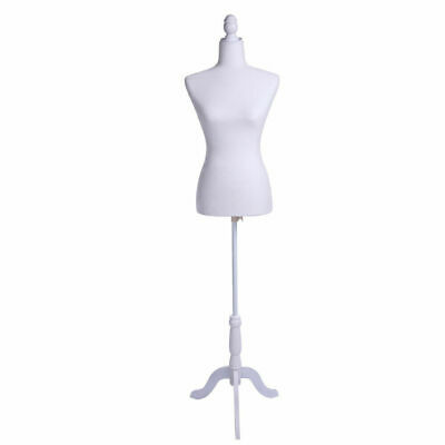 Female Mannequin Torso Dress Clothing Form Display W White Tripod Stand New