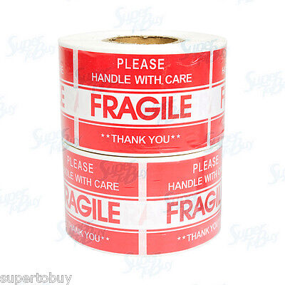 1000 2 X 3 Fragile Handle With Care Stickers Easy Peel And Apply 2 Rolls