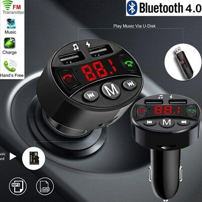 KFZ Bluetooth FM Transmitter Wireless In-Car Auto Radio MP3 Player 2 USB Adapter