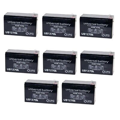 8 PACK UPG UB1270 12V 7AH VERIZON FIOS REPLACEMENT BATTERY   for sale  Aurora