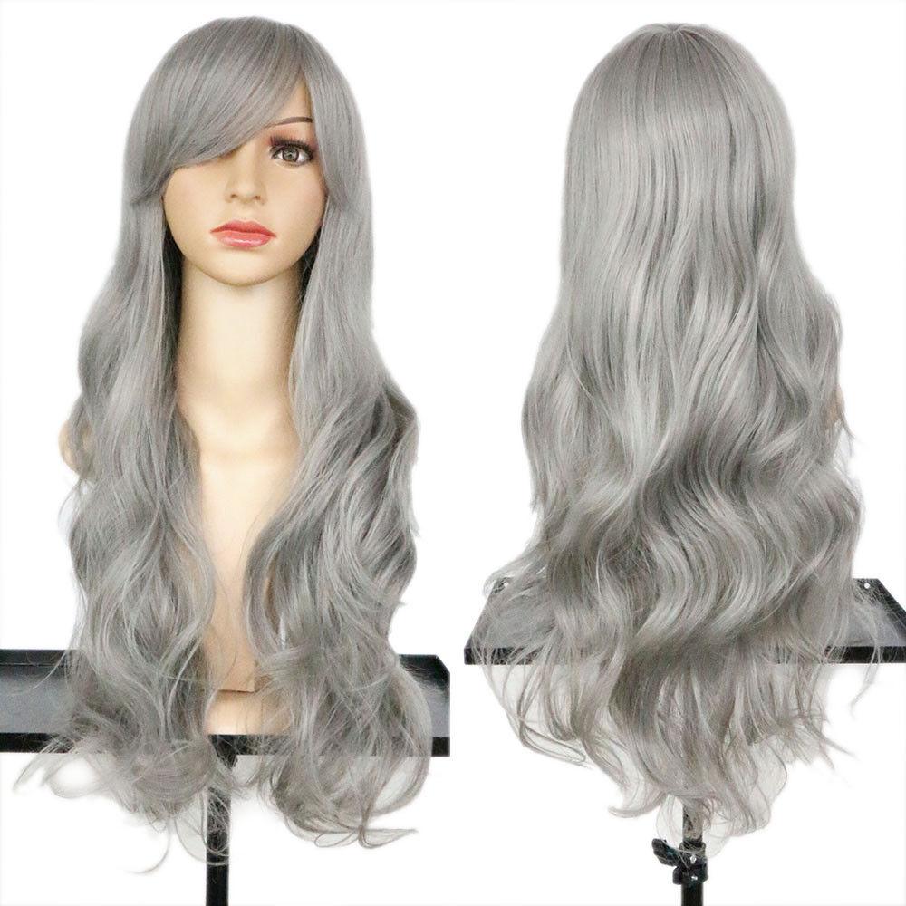 Long Light Blonde Curly Heat Resistant Wavy Women's Cosplay Hair Full Wig Wigs 11