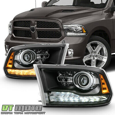 2009-2018 Dodge Ram 1500 10-18 2500 3500 LED DRL Projector Upgrade Headlights
