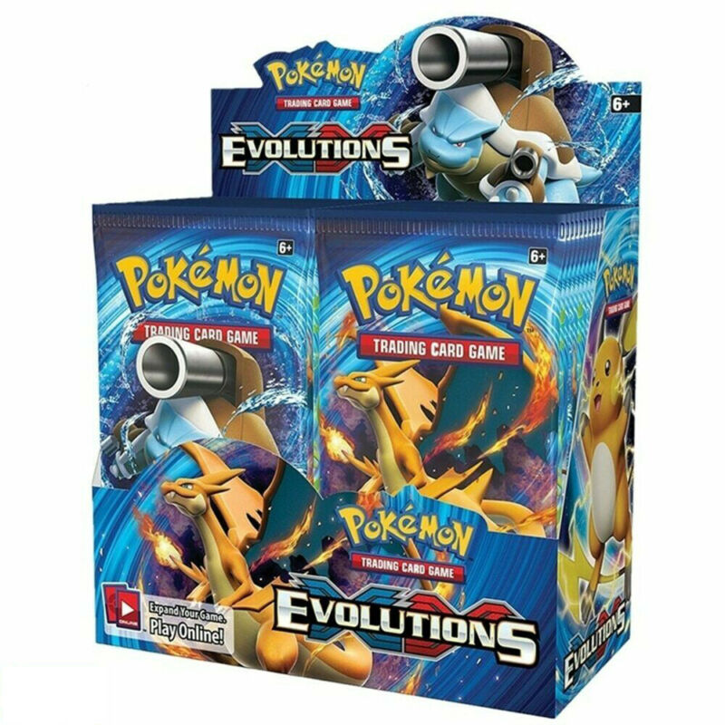 324 Pcs Pokemon Card Booster Box EVOLUTIONS TCG Collectibles For Kids/Children
