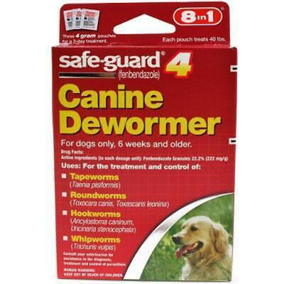 SafeGuard Panacur (fenbendazole) K9 Dogs 40 lbs 4gm 3 Pack dose All Wormer Save for sale  Orange Park