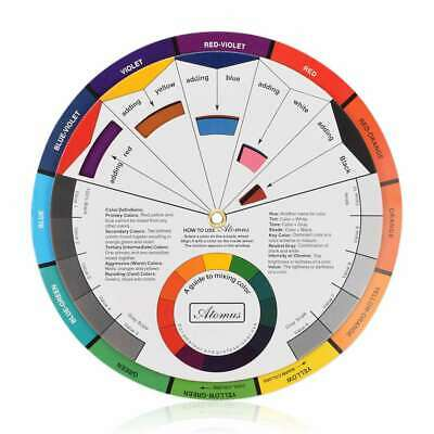 Color Mix Chart - Paint Learn Guide Color Wheel Mix Artist Chart Pocket Size Paper Card Supply