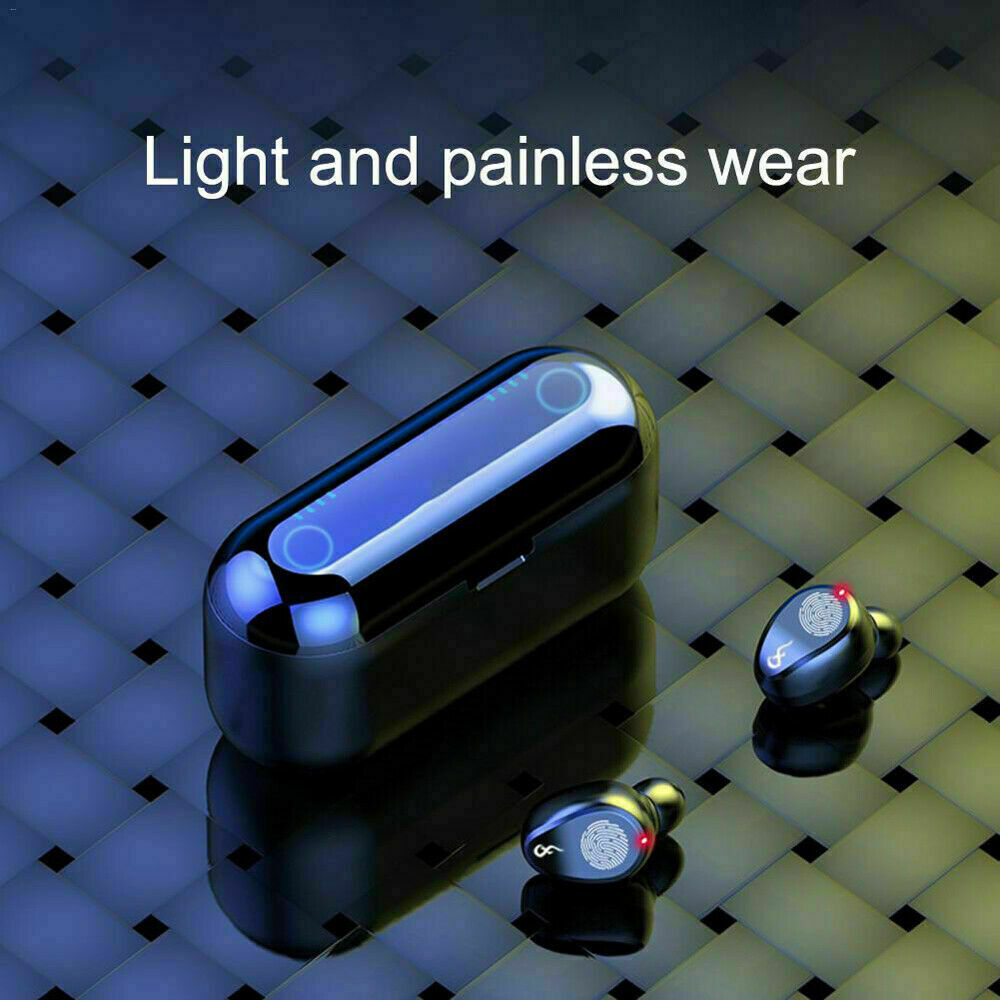 Bluetooth 5.0 Earbuds Wireless Earphones TWS Stereo Deep Bass in-Ear Headphones 9