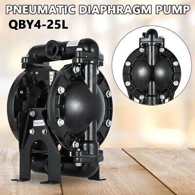 Air-operated Double Diaphragm Pump 1 Inch Inlet Outlet Aluminum 35gpm Max 120psi