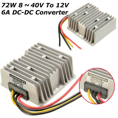 Dc Voltage Stabilizer 8-40v To 12v 6a 72w Car Power Supply Regulator Waterproof