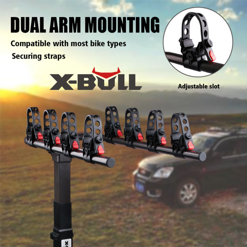 "X-BULL 4-Bike Carrier Rack Hitch Mount Heavy Duty Bicycle Rack  2"" Receiver"