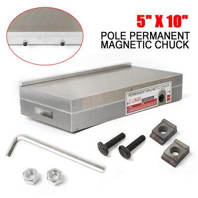 5 X 10 Fine Pole Permanent Magnetic Chuck Wremovable Handle Neodymium Forging