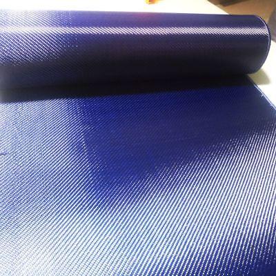 Carbon Fiber Blue Kevlar Mixed Fabric 70cm Aramid Cloth Twill Anti-pull Warp