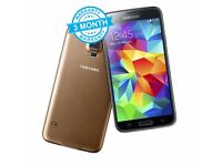Samsung Galaxy S5 G900F Gold 16GB Unlocked Mobile Phone Smartphone A+ Condition