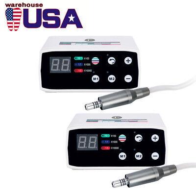 2x Nsk Style Dental Brushless Electric Micro Motor Internal Spray Led Iso-e Type