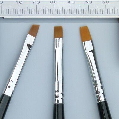 Ein UVGel Pinsel Gerade Gr.4 für Naildesign Gelpinsel sw