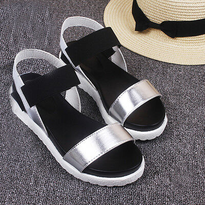 Women Summer Sandals Shoes Peep-toe Low Shoes Sandals Ladies BeachFlip Flops