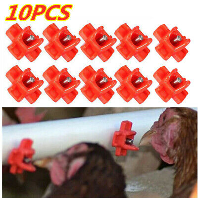 10pcs Horizontal Side Mount Chicken Nipples Waterer Automatic Poultry Drinker