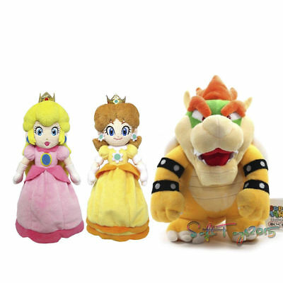 Super Mario Bros Bowser King Koopa Princess Peach Daisy Plush Toy Stuffed Doll](Mario Brothers Princess Daisy)