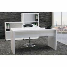 New White Hi High Gloss Computer Office Work Reception Desk Slacks Creek Logan Area Preview