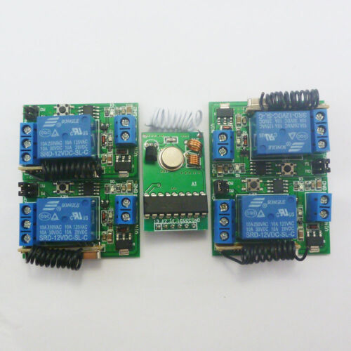 12V 433MHz Transmitter Control Delay Relay Receiver Kits Arduino Wilress Bulb