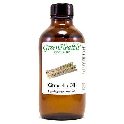4 fl oz Citronella Essential Oil (100% Pure & Natural) - GreenHealth