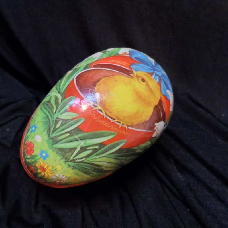 Vintage Western Germany Paper Mache Easter Egg Large Candy Container