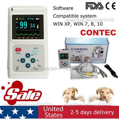 Veterinary Pulse Oximeter Cms60d-vetear Tongue Spo2 Probepc Software Usa Store