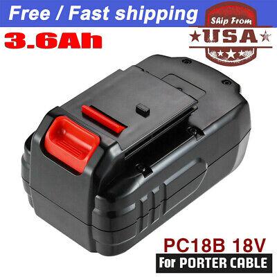 For Porter-cable Pc18b Pcc489n Pcmvc Pc188 18volt Nimh Cordless Battery Pack 3.6