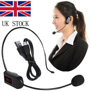 Loudly Wireless Handsfree Microphone Mic Radio FM Headset Teacher Speaker Speech