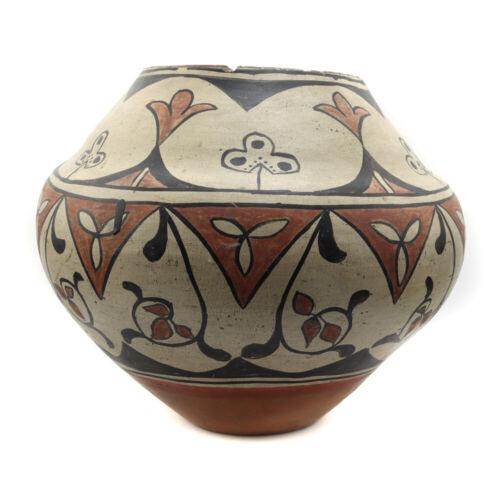 "San Ildefonso Polychrome Jar, c. 1885, 10"" x 10.75"" - SOLD ""AS IS"""
