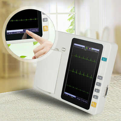 Portable 7 Touch Screen Digital 3 Channel Electrocardiograph Ecgekg Machine
