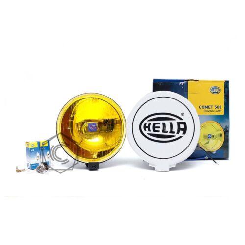 ORIGINAL HELLA COMET 500 YELLOW FOG LIGHT H3 WITH CAP UNIVERSAL FIT