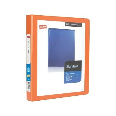 Staples Standard 1 3-ring View Binder Orange 26436-cc 82654