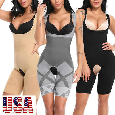- Women Compression Full Body Shaper Firm Control Tummy Underwear Slim Bodysuit US