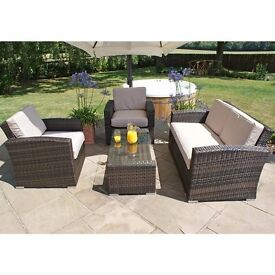 RATTAN GARDEN SOFA AND CHAIRS FOR GARDEN PATIO DECKING PAVING OR SUN ROOM CONSERVATORY SHED HOUSE