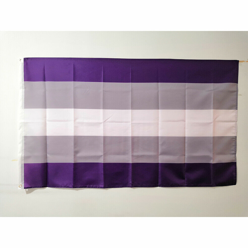Cheap 3'x5' Graysexual Pride Flag Banner Flying Polyester De