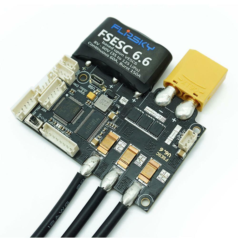 Skate Eletrico FSESC 6.6 based upon VESC6 with Heat Sink Ele