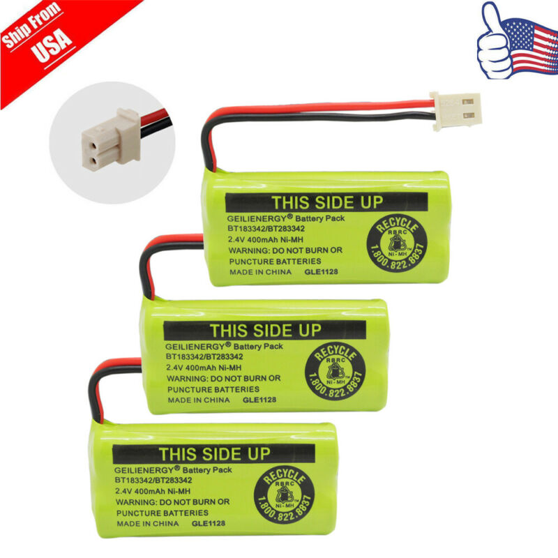 3 pcs Phone Battery Pack For AT&T VTech BT166342 BT266342 BT183342 BT283342 USA