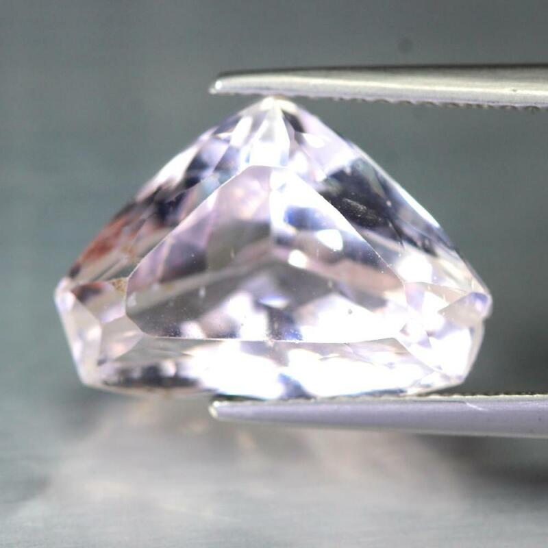 Certificate Include 9.34Cts Natural Pink Kunzite Fancy Heart Loose Gemstone