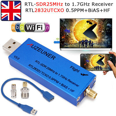 RTL-SDR RTL2832U 0.5PPM TCXO AM FM DSB Software Defined Radio Tunner USB Dongle